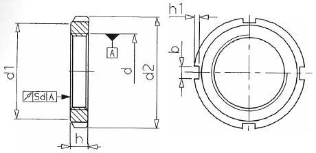 ecrou cylindrique a encoches km din 981 servica. Black Bedroom Furniture Sets. Home Design Ideas